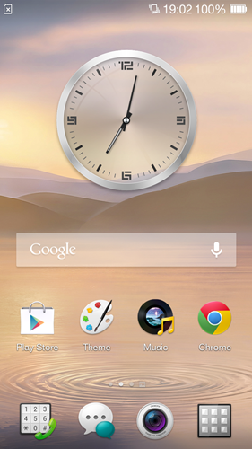 This is the default home screen on the Oppo R1.