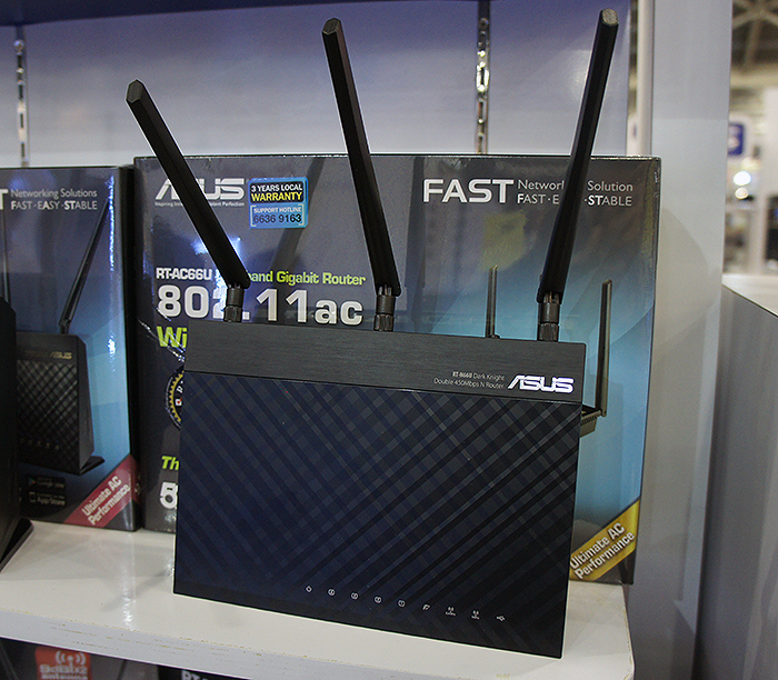 ASUS' flagship RT-AC68U router is available at $329 and comes with a free 16GB thumbdrive, 2,600mAh battery bank and Trend Micro Security software.