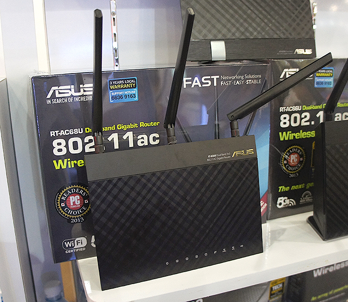 If you don't need Wireless-AC, the RT-N66U supports Wireless-N, and is going for $209. It comes with a 2,600mAh mobile battery bank and free Trend Micro security software.