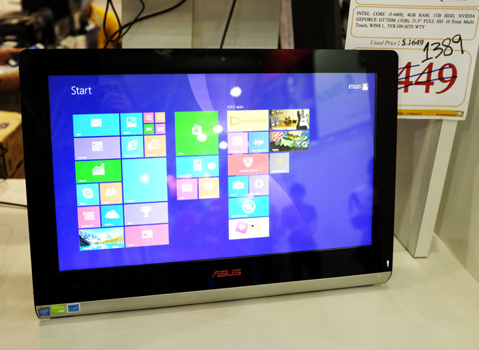 This 21.5-inch Full HD touchscreen all-in-one desktop PC is armed with an Intel Core i5 processor, NVIDIA GeForce GT720M graphics, 4GB RAM, and 1TB HDD. It usually retails for $1,649, but can be picked up at the PC Show for $1,389.