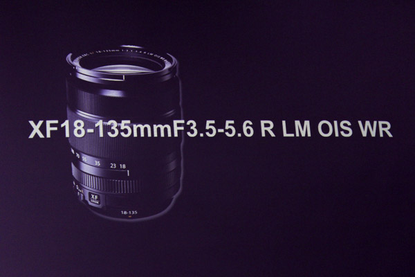 Fujifilm's XF-18-135mm high magnification zoom lens.