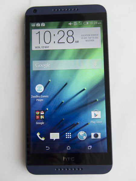 The HTC Desire 816 looks pretty classy from the front.
