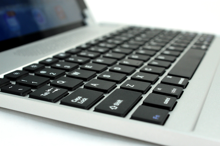 Unlike most tablet keyboards, the Brydge+ sports firm keys with plenty of travel.