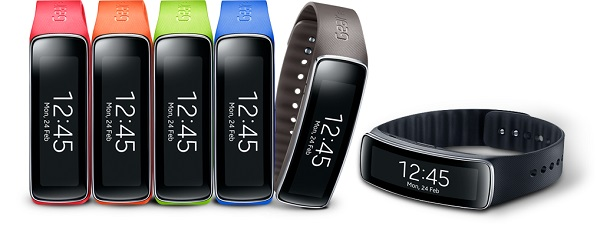 Samsung provides a variety of colorful straps to add a cool factor to her workout.