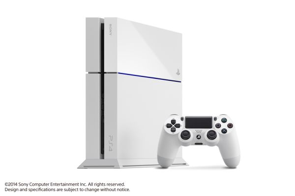 The PS4, now available in Glacier White.