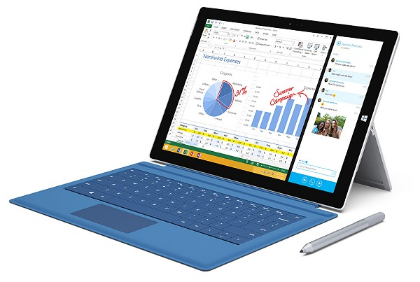 Microsoft cancelled plans for a Surface Mini due to the lack of confidence in its ability to compete in the small tablet market segment. Seen here is the 12-inch Surface Pro 3.