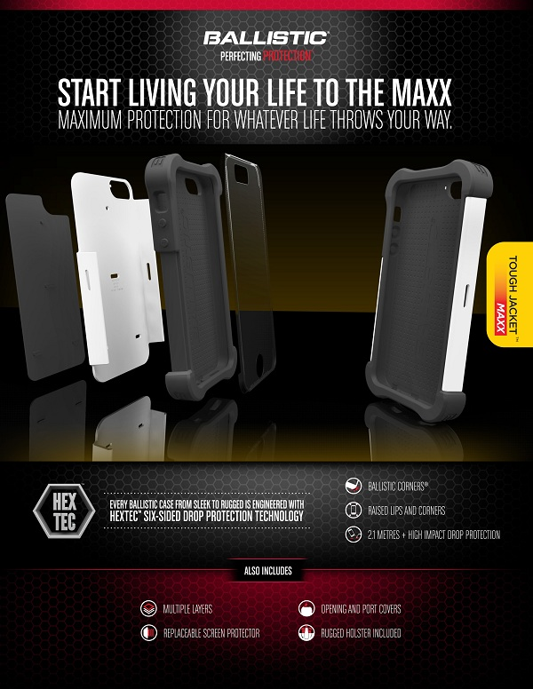 Tough Jacket Maxx: Start living your life with maximum 360-degree protection. For iPhone 5s – PhP 2,290
