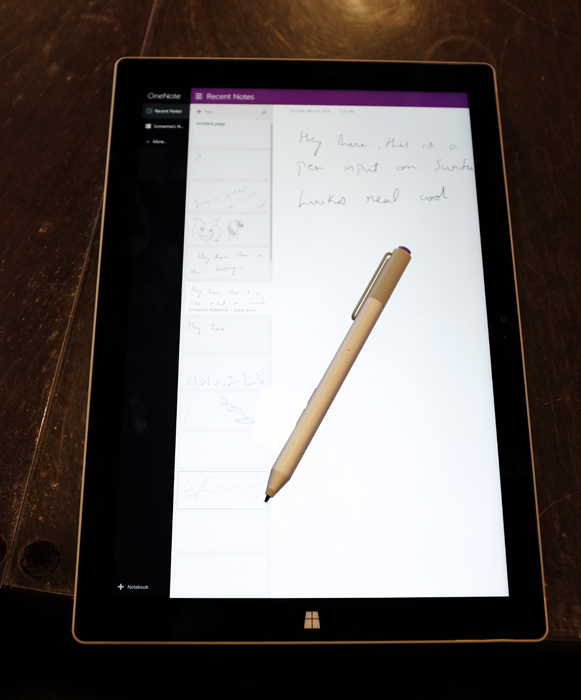 The Surface Pro 3's pen boasts one of the best tablet writing experiences we've seen