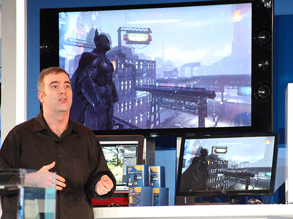 Intel demonstrates 4K gaming on Intel Core processors.