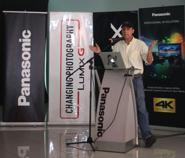 Matt Siegel, a Hollywood-based director of photography who shared his experience of using the LUMIX GH4 at the launch.