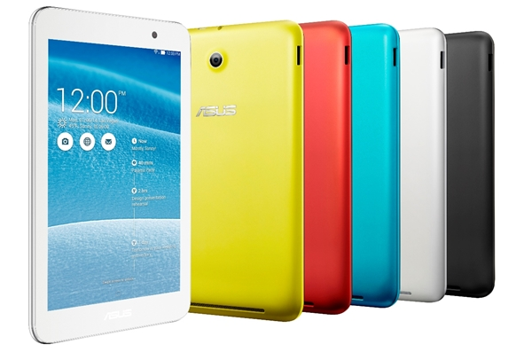 The ASUS MeMO Pad 7 (ME176C) is available in white, black, blue, red and yellow. <br> Image source: ASUS