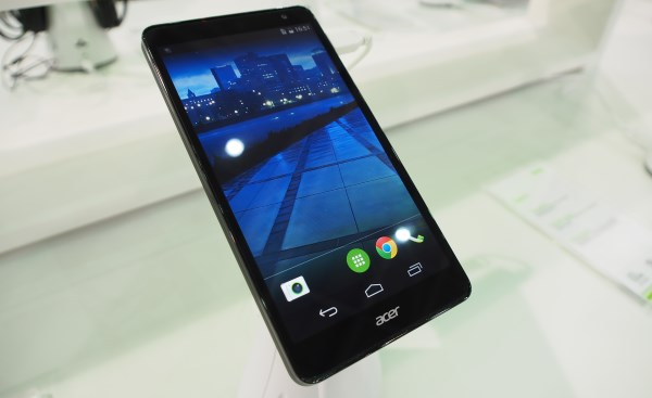 The Acer Liquid X1 5.7-inch smartphone.
