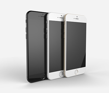 Renders of Apple iPhone 6 based on leaks. <br> Image source: Tomas Moyano and Nicholas Aichino.