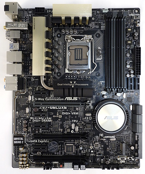 The ASUS Z97-Deluxe (NFC & WLC) is a full ATX board that is touted to be a Swiss army knife for system builders; with its rich feature set that will address requirements that range from cloud computing to system overclocking.
