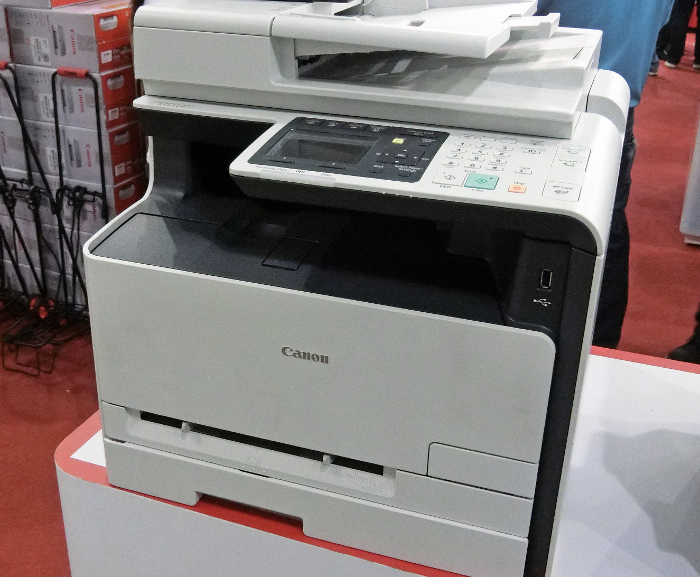 Looking for a laser printer instead? There's the imageCLASS MF8280Cw, which has print, copy, scan, and fax capabilities. It can print both mono and color documents at 14ppm and has a 50-sheet automatic document feeder (ADF). Price? $649.