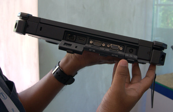 All the ports on the Rugged Extreme have protective door seals. Dell also included serial ports and Ethernet connectors to cater to industries that require them in specialized hardware.
