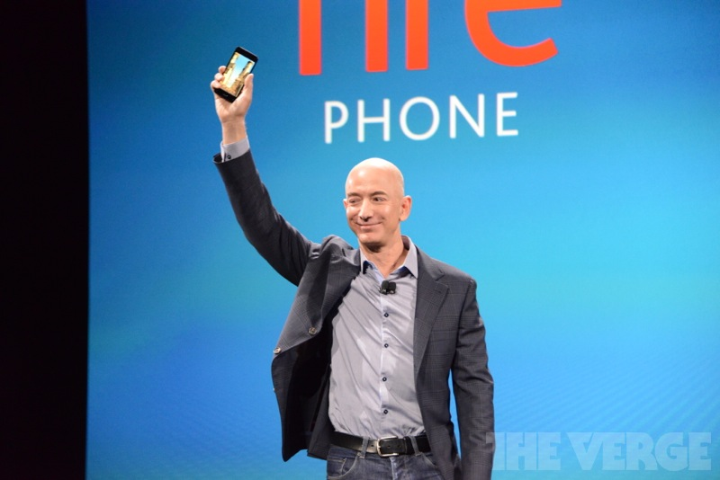 Amazon CEO Jeff Bezos unveils the Fire Phone.