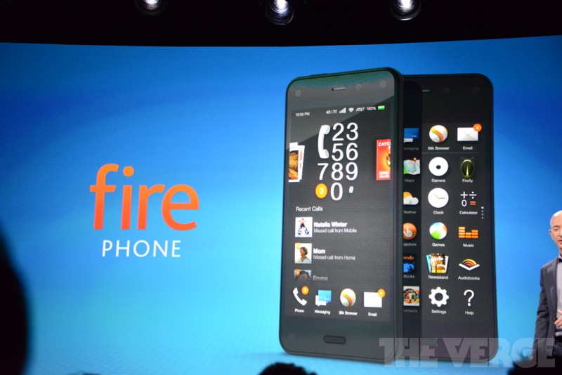 The Fire Phone looks quite a lot like an iPhone.