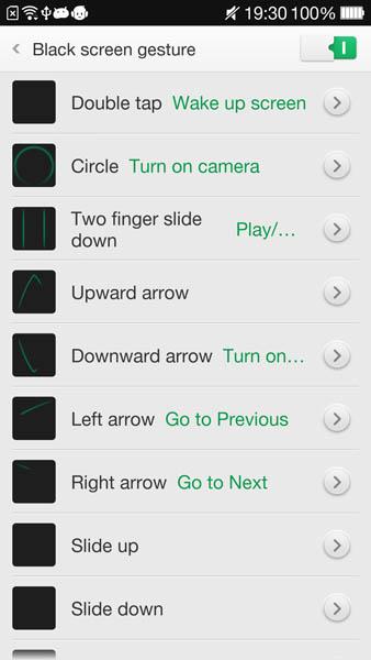 Hands gesture work even when the screen is off.