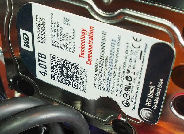 The Prototype WD Black SATA Express drive seen at Computex 2014 is a hybrid 4TB HDD/128GB SSD.