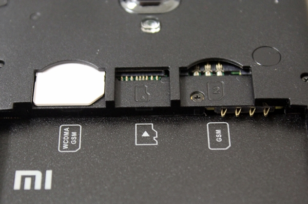 The microSD memory card slot is located in between the two SIM card slots.