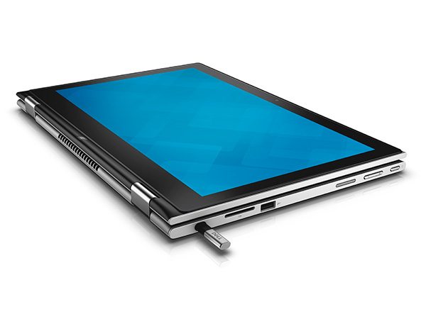The Dell Inspiron 13 7000 in tablet configuration. It comes with a passive stylus that helps users improve their productivity and creativity through a more natural pen input method.