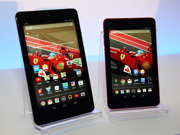 Dell's new Venue 8 (left) and Venue 7 (right) tablets based on Intel's latest Intel Atom (Merrifield) SoC.