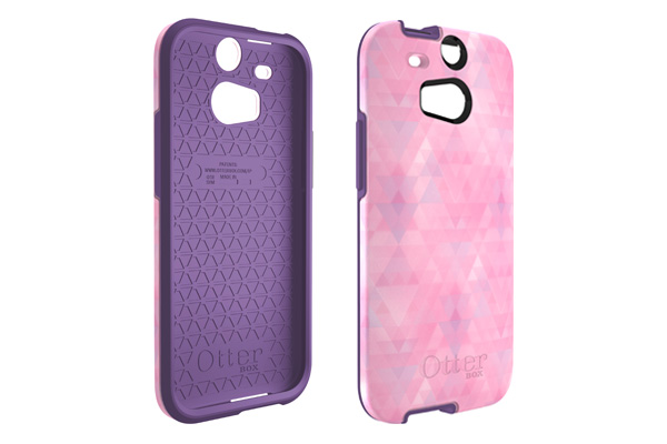 The OtterBox comes in various colors and patterns, such as Dreamy Pink (above) with a purple interior and baby pink exterior.
