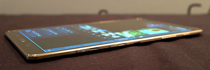 The Tab S is incredibly thin. It feels like you're just holding a display in your hands.