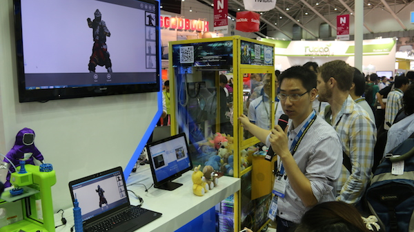 Intel's RealSense technology naturally draws the most crowd with its eclectic mix of demonstrations. For example, the arcade claw machine is fitted with a RealSense 3D cameras that can be controlled entirely by a person's hand gestures.