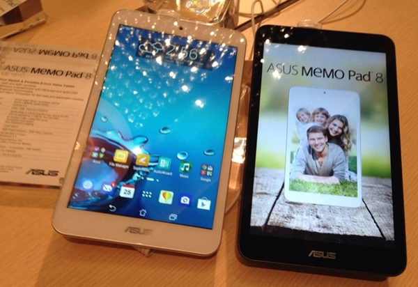 The ASUS MeMO Pad 8 (ME181C) is available in white, black, gold and purple. <br> Image source: ASUS