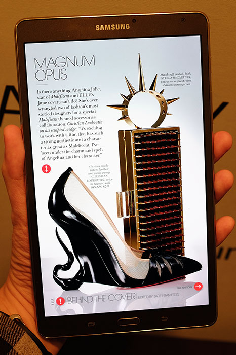 Samsung's Papergarden app features magazine content specifically optimized for its Super AMOLED display.