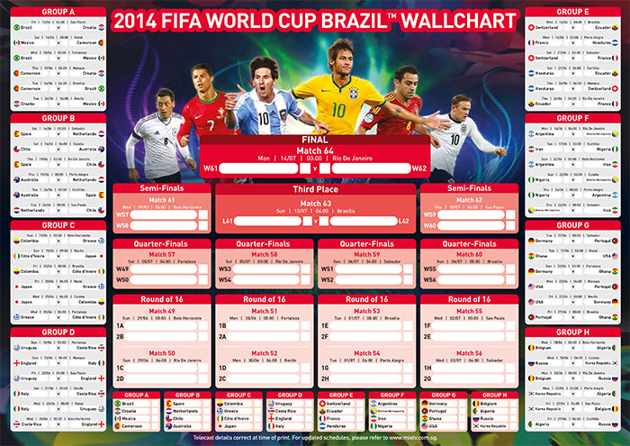 World Cup 2018 Chile Schedule