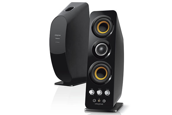 The Creative T50 is a 2.0 wireless speaker system with NFC. (Image source: Creative.)