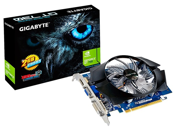 The Gigabyte GV-N730D5-2GI. (Image Source: Gigabyte)