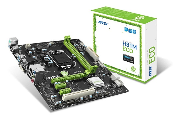 The H81M Eco. (Image Source: MSI)