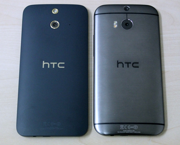 You now have a choice between polycarbonate on the HTC One (E8) and aluminum on the HTC One (M8). Take note that the One (E8) uses a different camera module and forgoes the Duo Camera feature.