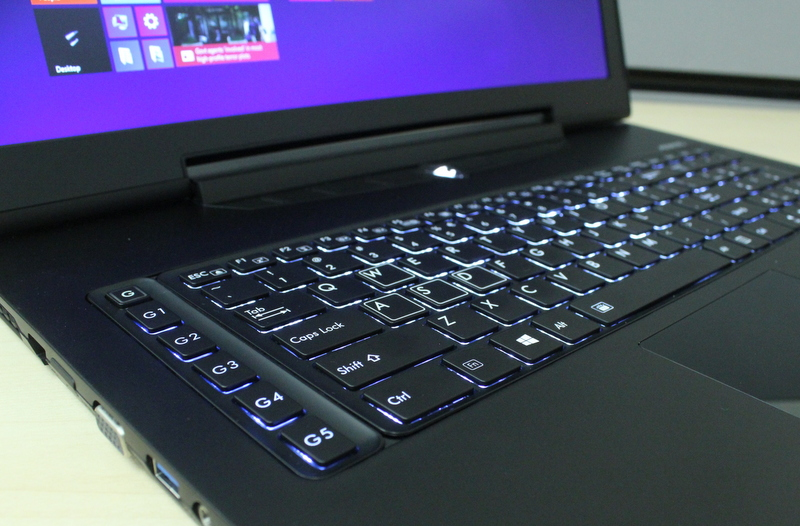 The inclusion of macro keys allows it to stand out from other 'gaming' notebooks in the market.
