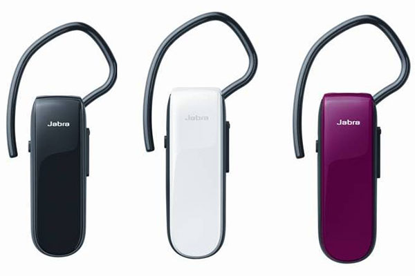 The Jabra Classic comes in either black, white, or red.