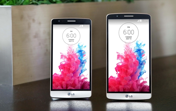 Left: LG G3 Beat. Right: LG G3. <br>Image source: LG
