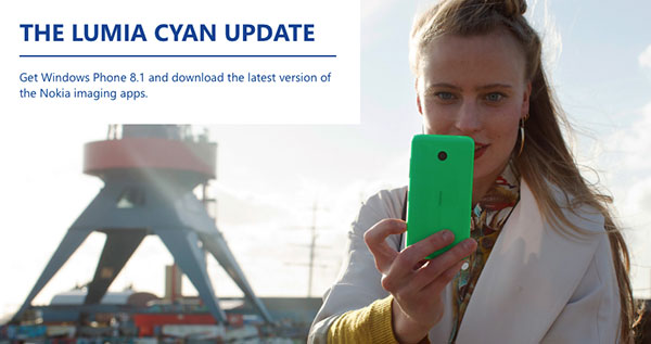 Nokia Lumia cyan: Windows Phone 8.1Update Will Be Rolled Out