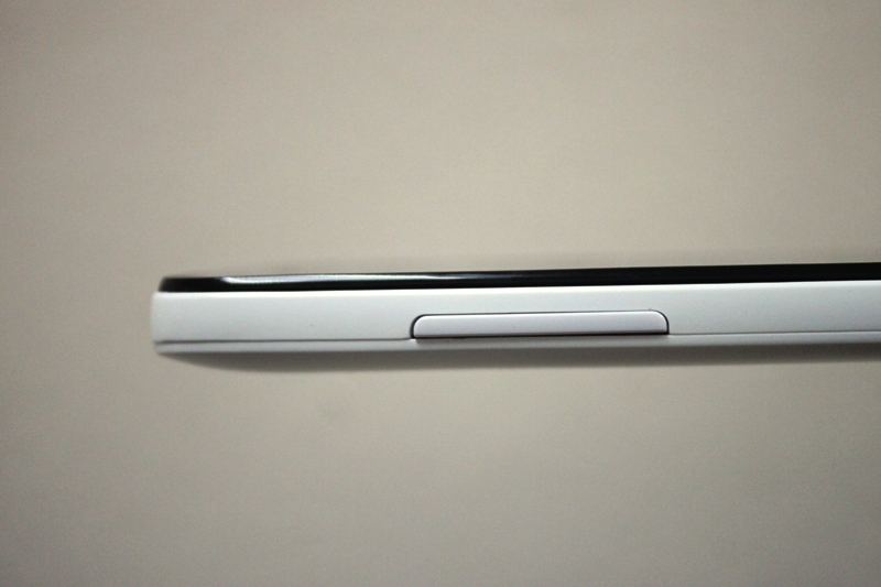 The volume rocker sits on the left side of the phone.