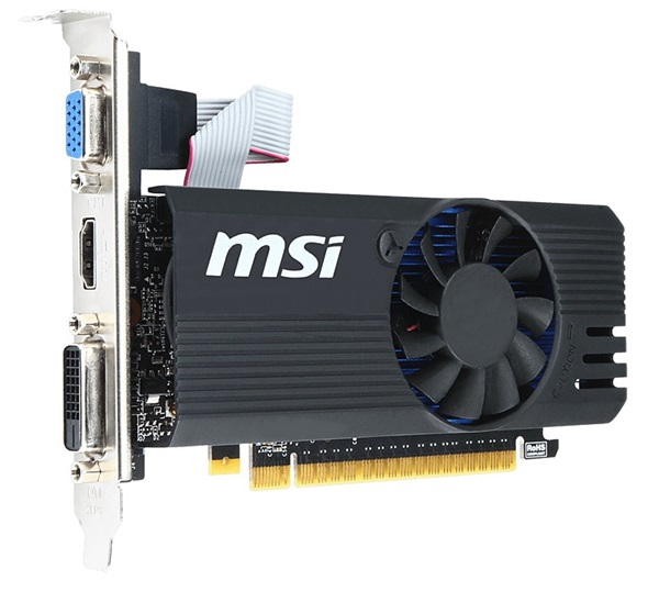The MSI N730K-1GD5LPOC. (Image Source: MSI)