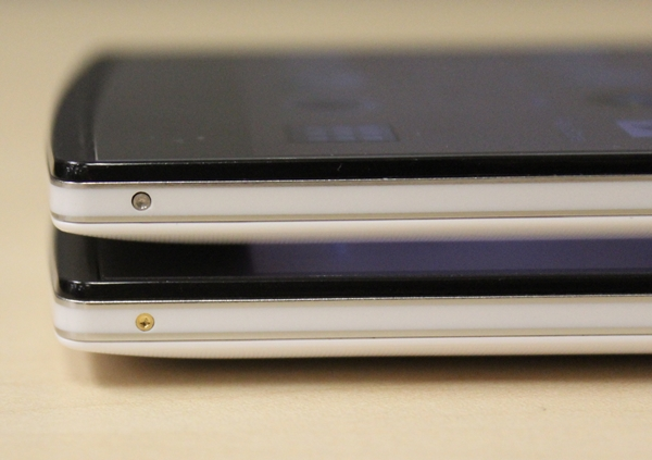 The silver inset (top) is the Oppo Find 7A while the gold inset (bottom) is the Oppo Find 7.