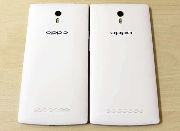 The Oppo Find 7 series look very dashing in white, but it may get dirtied easily.