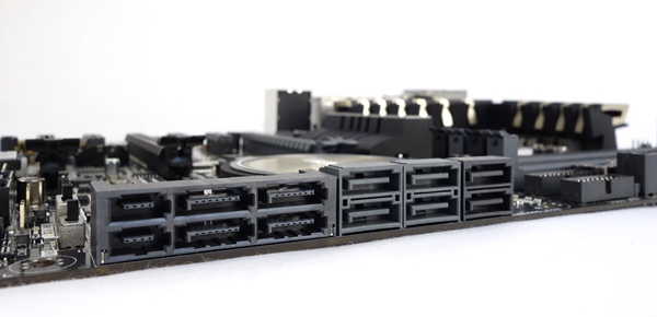 One of the SATA Express connector is linked to the Intel Z97 PCH, while the other is linked to the board's third party ASMedia SE controller.