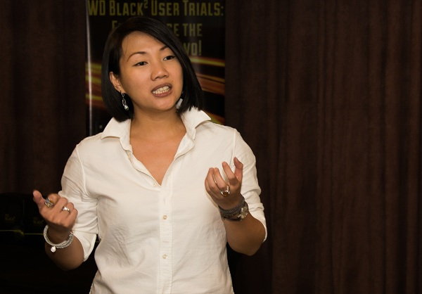 Charlotte Koa, WD Philippines' Country Manager for Internal Hard Drives, shared more details on the capabilities and features of the WD Black2 Dual Drive during the technical seminar.