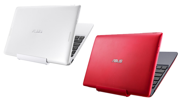 ASUS has released the Transformer Book T100 in white and red. According to the image, the white unit will come with a matching white dock, while the red unit will have a red and gray dock.