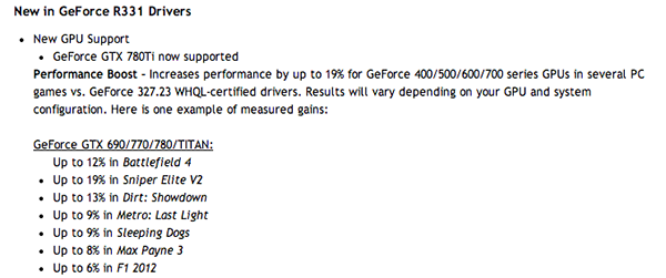 New graphics drivers often improve performances on games.