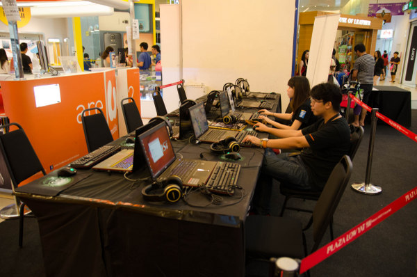 Seen here is the gaming area for the participants of the CS:GO tournament and Dota 2 solo championship.